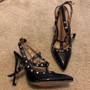 Black Rockstud Heels